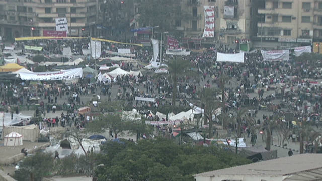 Protesters at Cairo's Tahrir Square