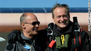 Solar Impulse 2 flies into aviation history