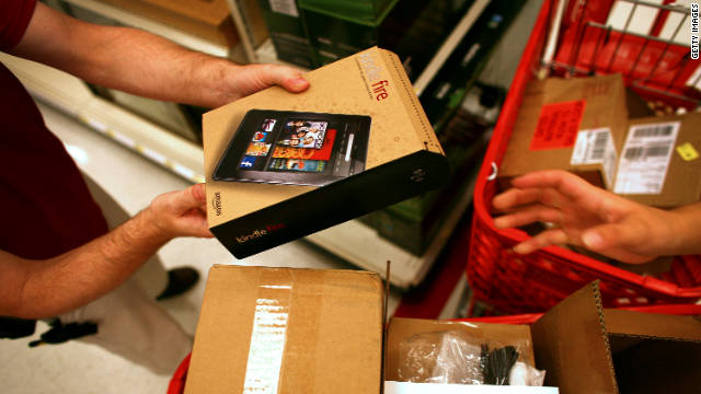 Sales of its new tablet, the Kindle Fire, helped spur a big Black Friday for Amazon.