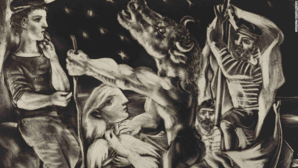 "The British Museum is celebrating after it acquired a complete set of Pablo Picasso's Vollard Suite of etchings, including ""Blind Minotaur led by a little girl in the night."""