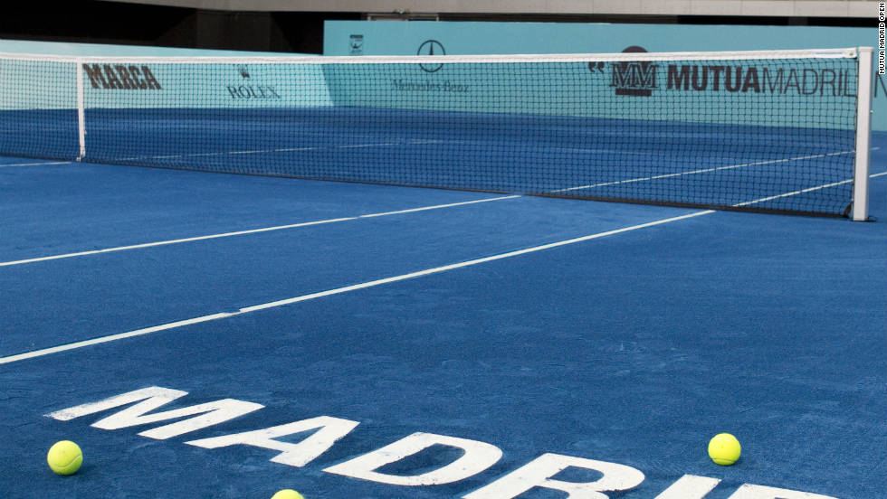 The 2012 Madrid Open will be the first time an officially sanctioned tennis tournament has been played on blue clay.