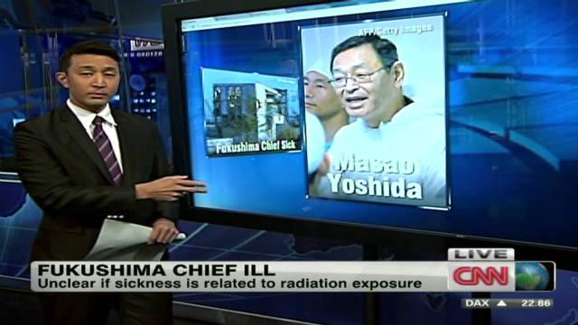 Fukushima chief ill