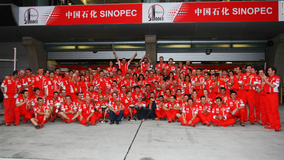After adding to his early win in Australia with victories in France, Britain and Belgium, Raikkonen sealed Ferrari's 200th grand prix triumph in China.