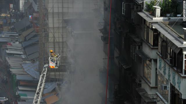 Hong Kong market fire 'suspicious'