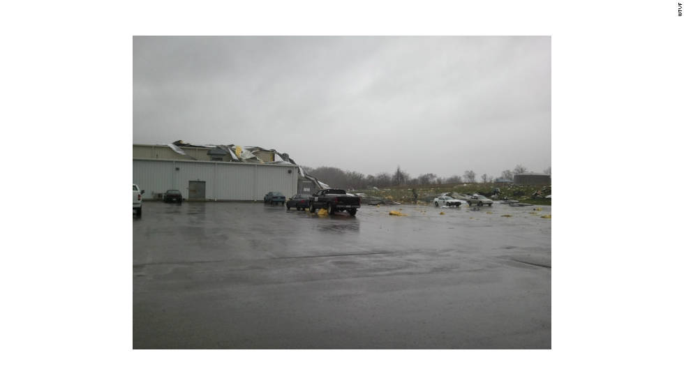 During the first week of April, 46 tornadoes struck 10 central and Southern states, causing nine deaths and nearly $3 billion in damage.   The twisters tore the roof off this manufacturing plant near Hopkinsville, Kentucky.  The region saw more damaging tornadoes in the weeks that followed.