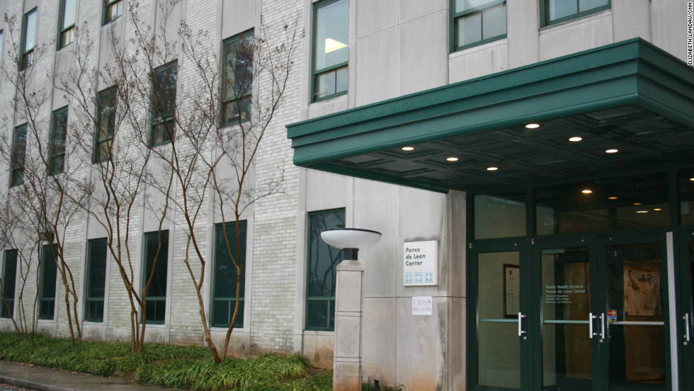 """There's no big sign identifying the clinic at the main entrance, only a small plaque that says """"Ponce De Leon Center."""""""