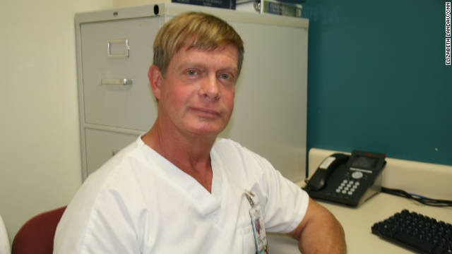 Nurse Lane Tatman has been HIV-positive since the 1980s.