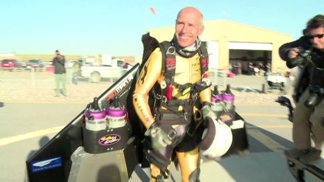 Flying with the 'Jetman'