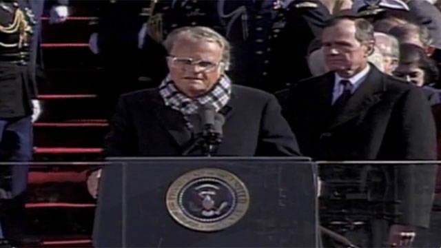 1993: Billy Graham at Clinton inaugural