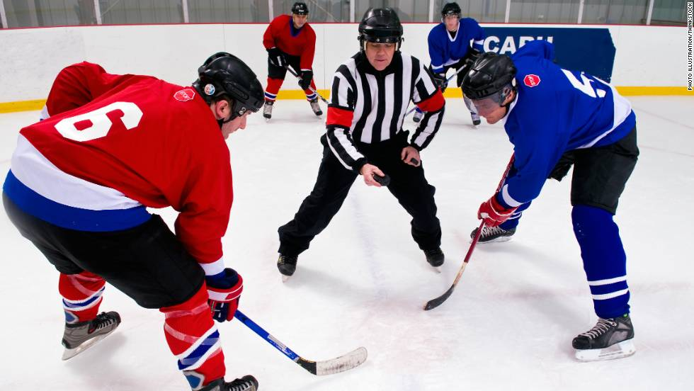 Looking for a cardio-intensive sport? Hockey is it. Studies show that hockey boosts mental strength and focus and burns at least 470 calories an hour. It also improves flexibility and provides some of the same health benefits as ice skating.