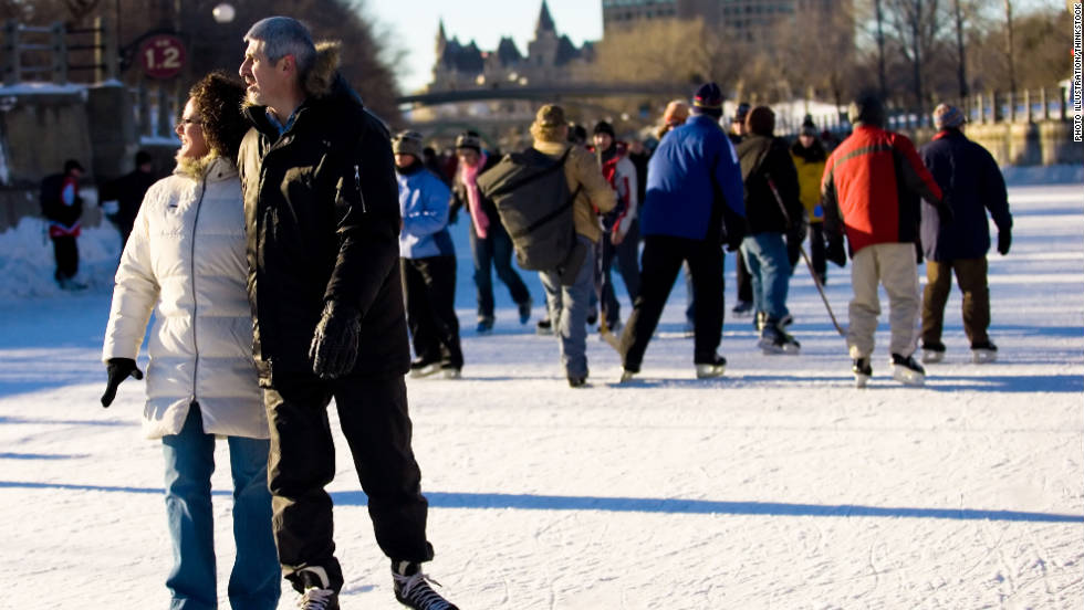 Ice skating is one winter sport that you can do indoors or outdoors. It's a great aerobic workout that burns up to 20 calories per minute and helps strengthen your core as you try to balance on the thin blades. So trade in your sneakers for figure skates and hit the ice.