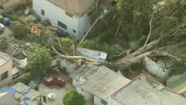 Santa Ana winds whip across West