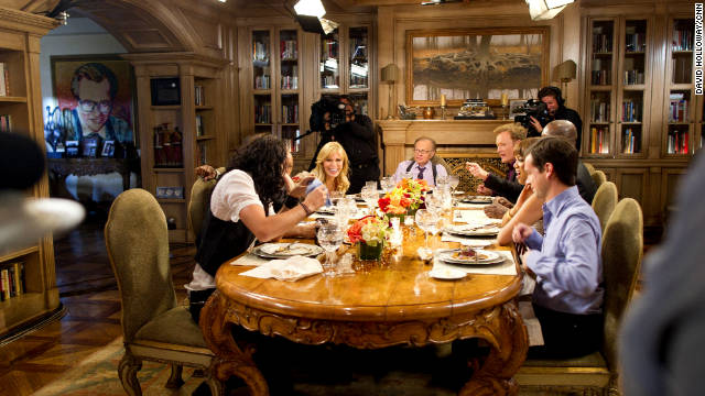BreaKING bread: A-listers tell all at Larry's dinner party.