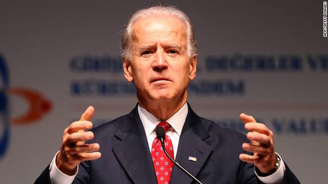 U.S. Vice President Joe Biden speaks in Istanbul on Saturday.