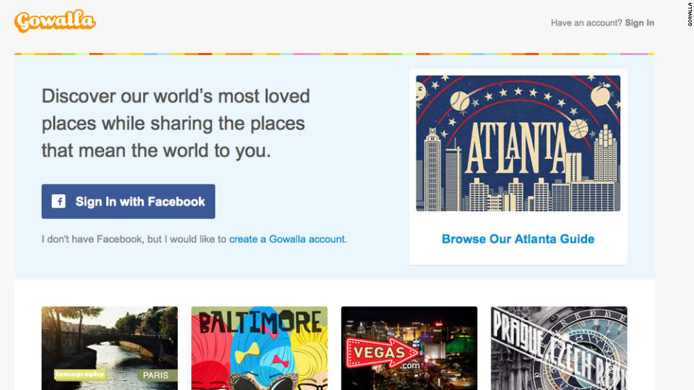 "Facebook <a href=""http://money.cnn.com/2011/12/02/technology/gowalla_facebook/"">acquired location sharing service Gowalla</a> for an undisclosed sum in 2011. The purchase enabled Facebook users to share their location more often. Its features were <a href=""http://edition.cnn.com/2011/12/05/tech/social-media/facebook-gowalla-cashmore/""> integrated into Facebook's Timeline</a>, which was launched at around the same time."