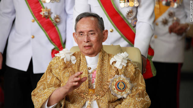Thailand's King Bhumibol Adulyadej returns from the Grand Palace to Siriraj Hospital in Bangkok on Monday, his 84th birthday.