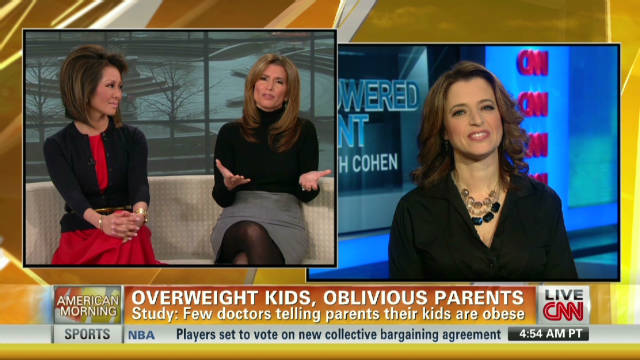 Overweight kids, oblivious parents
