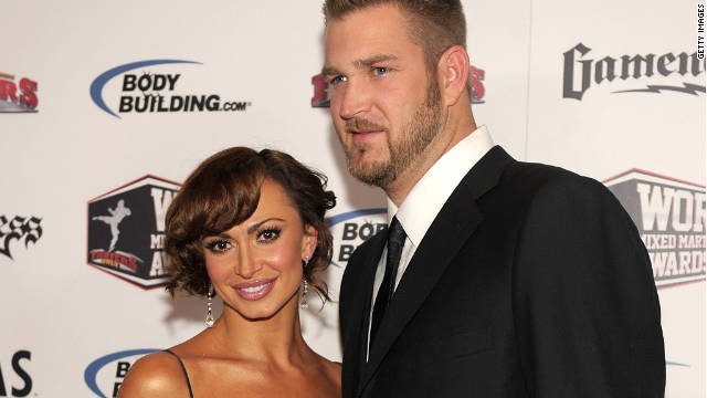 "Karina Smirnoff and Brad Penny, shown here in 2010, met through former ""Dancing with the Stars"" contestant Chuck Lidell."