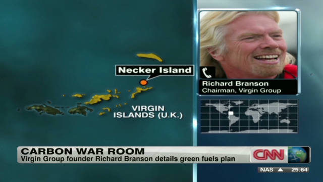 Richard Branson talks green carbon fuels
