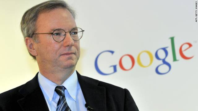 Google chairman Eric Schmidt says Android is dominating Apple's mobile system like Microsoft once dominated the company on PCs.