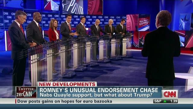 Romney skips Trump debate