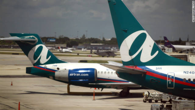 AirTran received the top ranking in the Airline Quality Rating report released Monday.