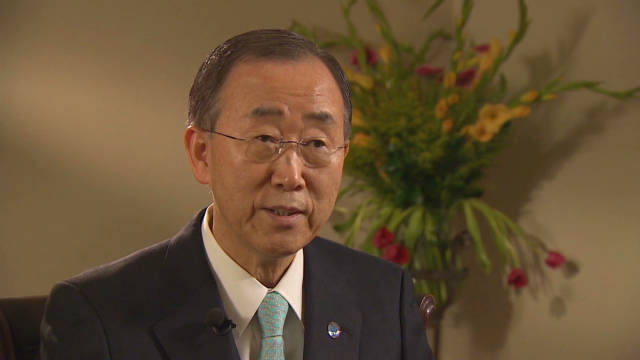 U.N. chief urges climate cooperation