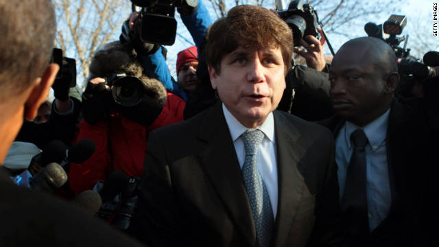 CHICAGO, IL - DECEMBER 07: Former Illinois Governor Rod Blagojevich leaves his home to go to his sentencing hearing December 7, 2011 in Chicago, Illinois. Federal prosecutors are seeking a sentence of 15 to 20 years in prison for Blagojevich after he was found guilty of 17 public corruption charges. (Photo by Scott Olson/Getty Images)