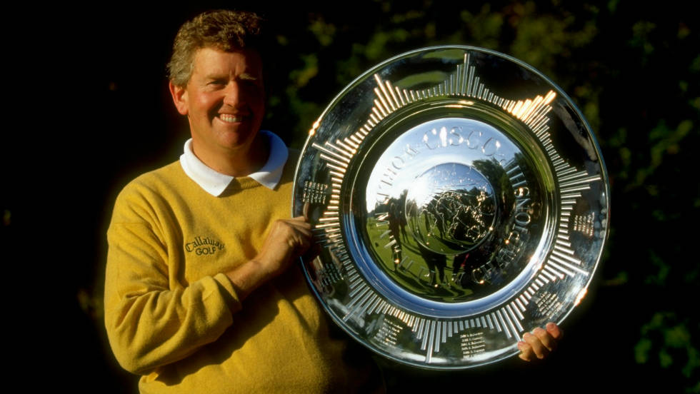 Colin Montgomerie, holding  the World Matchplay trophy in 1999, won the Order of Merit seven years in a row and record eight overall.