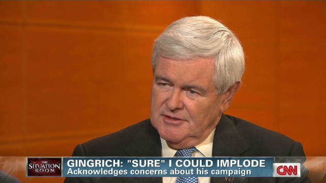 Gingrich: 'Sure I could' implode