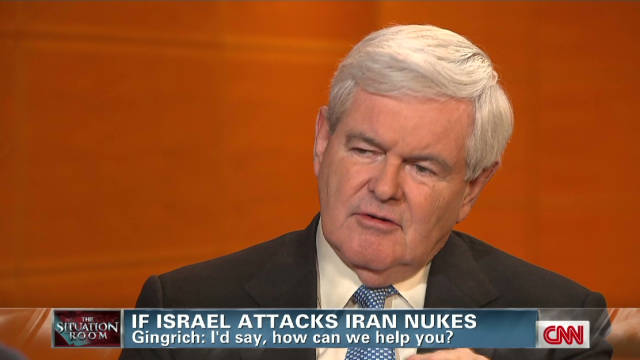 Gingrich: I'd help Israel fight Iran
