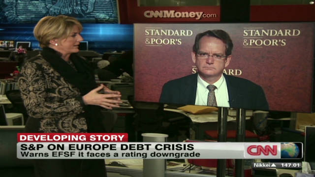 S&P issues Europe debt crisis warning