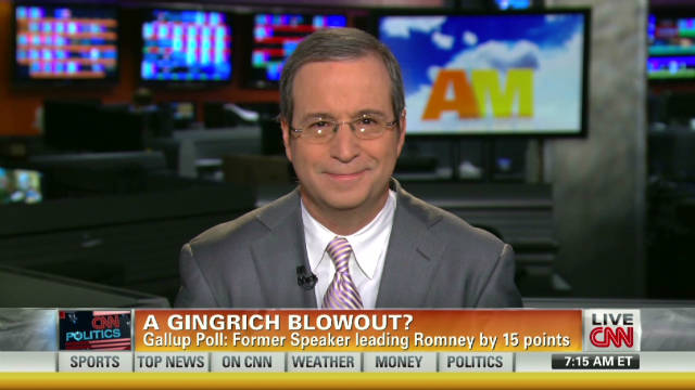 Gingrich takes lead in poll