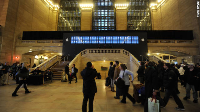 Apple's new store in New York City's Grand Central Terminal was set to open Friday.