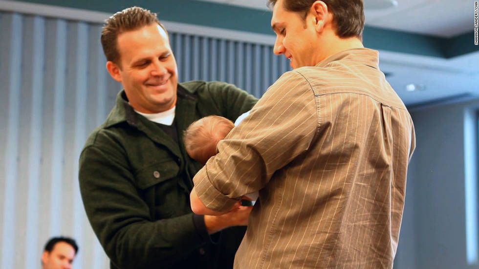 Venable passes Anabella to a father who is preparing for the arrival of his first child.