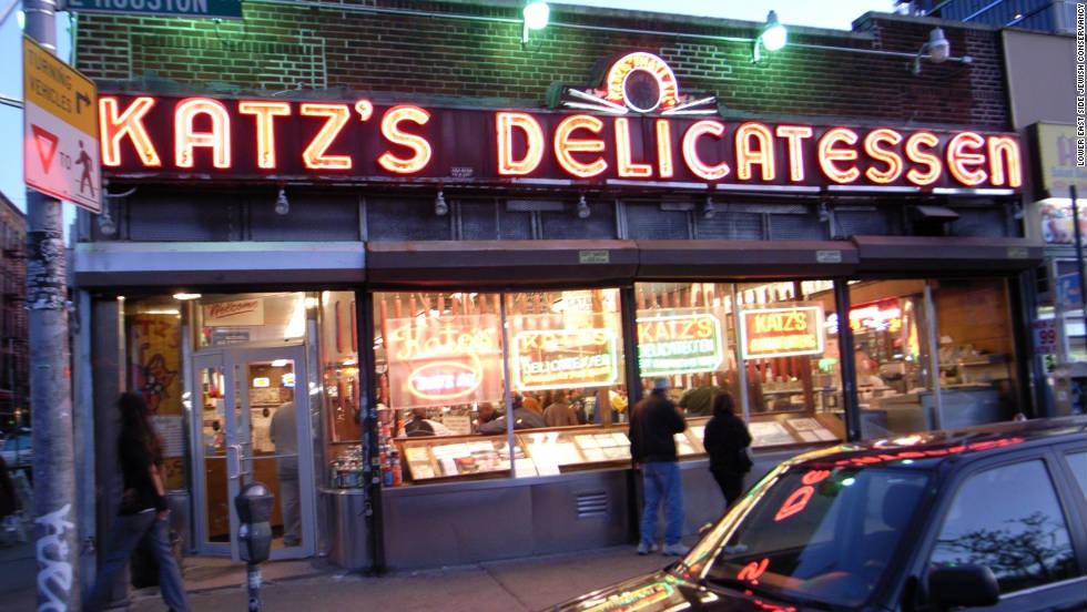 A Jewish institution on the Lower East Side since 1888, Katz's Deli still offers its famous pastrami, turkey and corned beef sandwiches.
