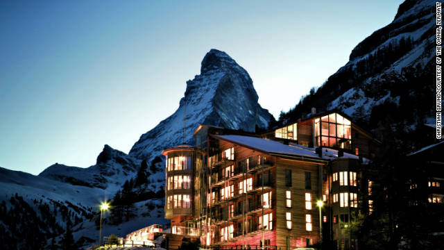 The Omnia in Zermatt, Switzerland offers a Modernist take on mountainside log cabins.