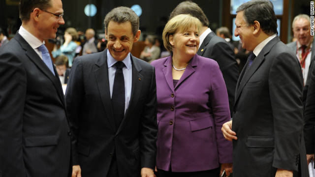 French President Nicolas Sarkozy and German Chancellor Angela Merkel hope to galvanize support for the European ideal.
