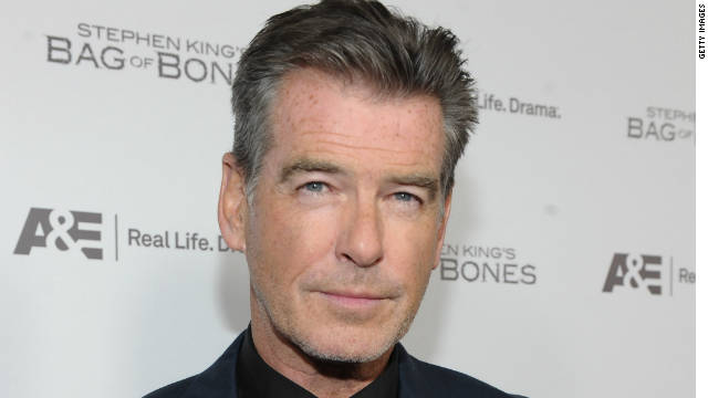 Pierce Brosnan attends A&E's premiere party event for Stephen King's 'Bag of Bones' on December 8, 2011, in West Hollywood.