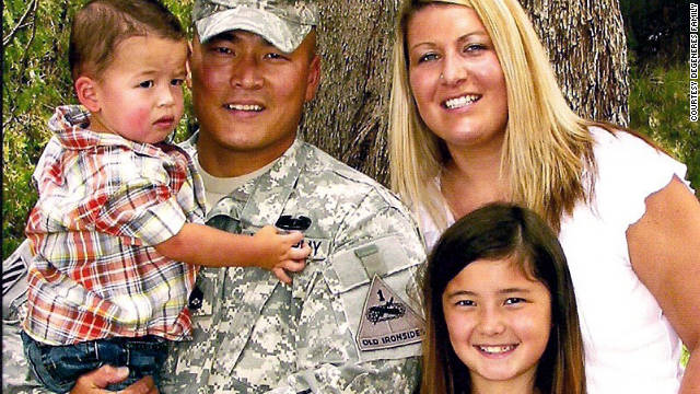 The war has often kept Daniel separated from son Traber, daughter Keara and wife Amanda.