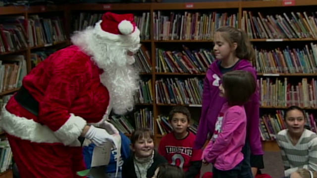 Santa brings soldier home for Christmas