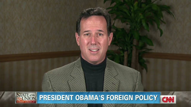 Santorum: Obama foreign policy weak
