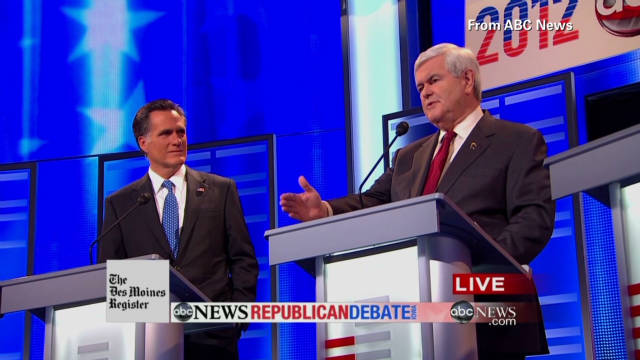 Gingrich under fire during GOP debate