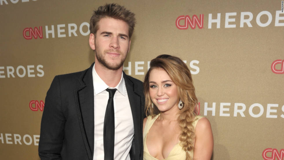 Actor Liam Hemsworth and Singer Miley Cyrus.