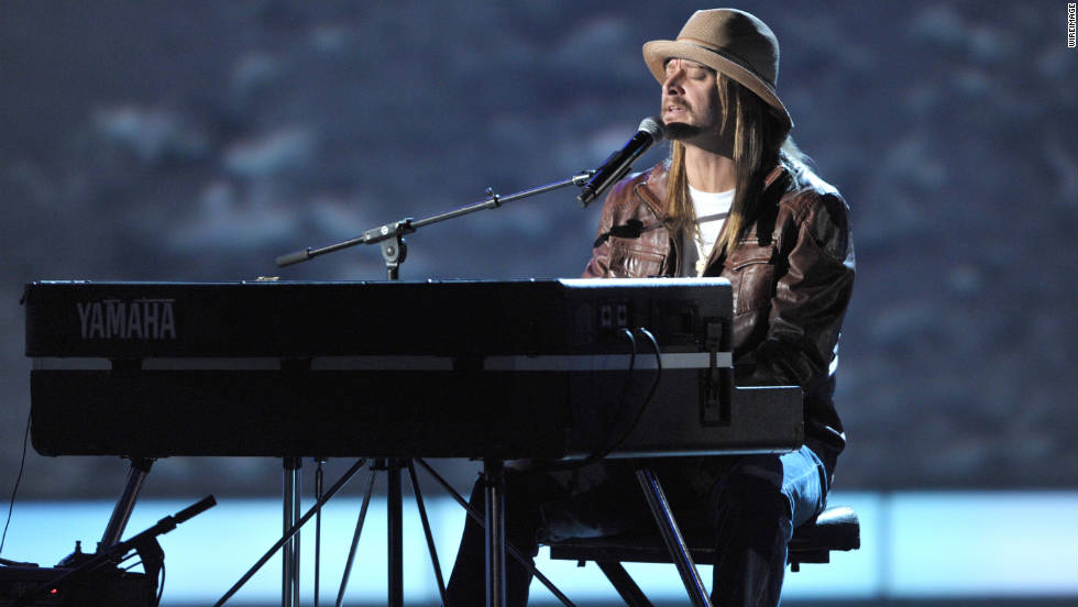 "Kid Rock performs the song ""Care"" from his platinum-selling album ""Born Free."""