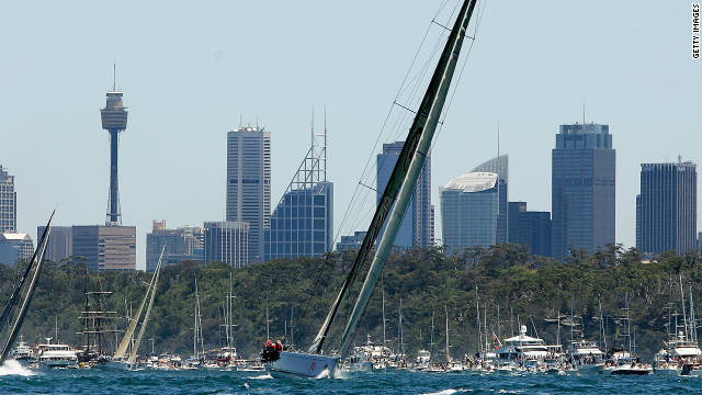 Crowd pleaser: Sydney to Hobart race