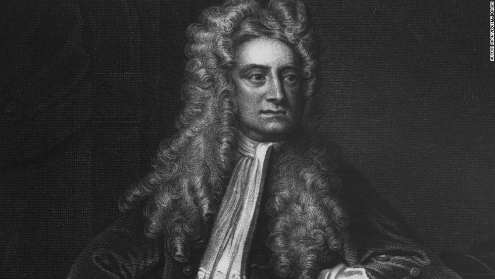 Mathematician and physicist Isaac Newton (1642-1727) described the law of gravity, developed calculus and discovered that sunlight is made up of a mixture of colours.