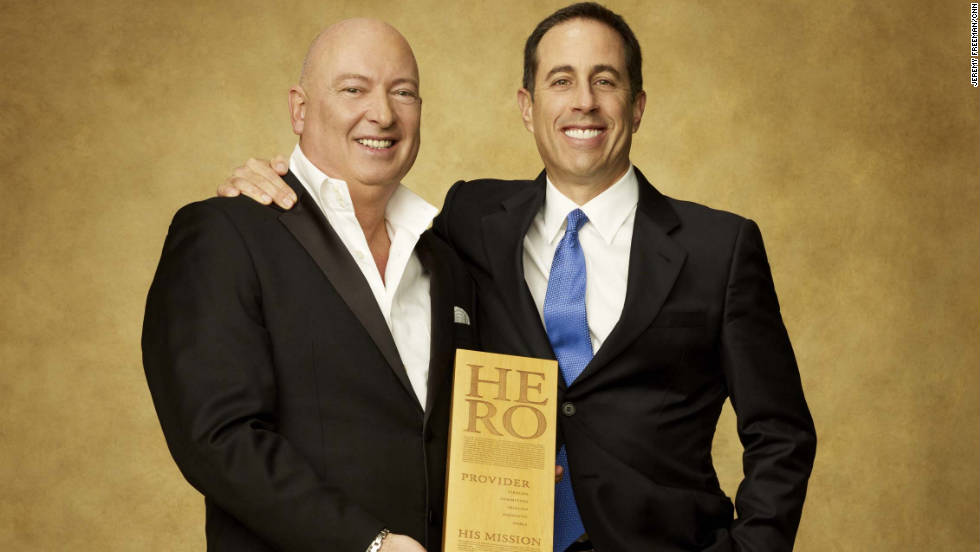 CNN Hero chef Bruno Serato and comedian Jerry Seinfeld.