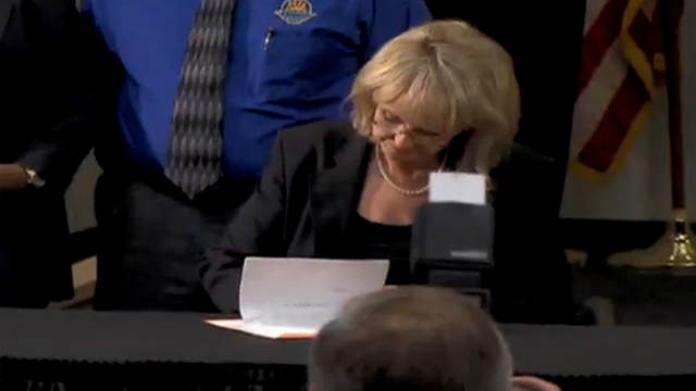 Arizona Gov. Jan Brewer says she will get tough on illegal immigration and racial profiling.