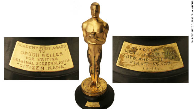 "Orson Welles won the Academy Award for best screenplay in 1941 for the film ""Citizen Kane."""